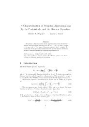 A Characterization of Weighted Approximations by the Post-Widder ...