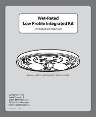 Low Profile Integrated Kit Wet-Rated Low Profile ... - Hunter Fan