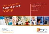 Rapport annuel - Fondation de l'Avenir