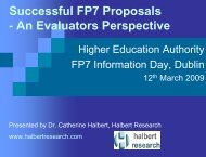 Evaluation Workshop - Seventh EU Framework Programme Ireland
