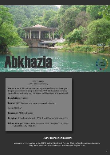 AbkhaziaProfileTEMPLATE, July 23 2009 - UNPO