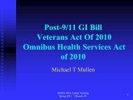 Post-9/11 GI Bill Veterans Act Of 2010 Omnibus Health Services Act ...