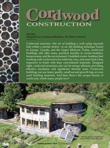Cordwood Construction - Equal Parenting-BC