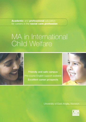 MA in International Child Welfare - ICYRNet