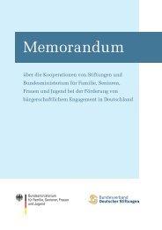 Memorandum über die Kooperationen von Stiftungen und ... - BBE