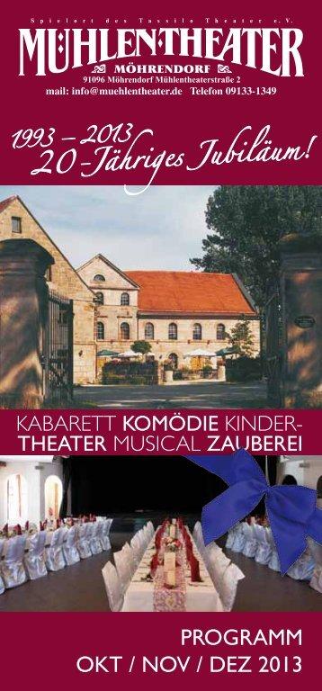 Programm Oktober-Dezember 2013 - Tassilo-Theater und ...