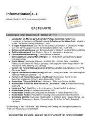 Informationen|A - Z - Mieminger Plateau