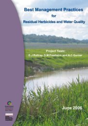 Best Management Practices for Residual Herbicides and Water ...