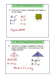 2) The base of a triangle is multiplied by 3 and the height is ...