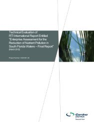Technical Evaluation of RTI International Report - Sunshine State ...