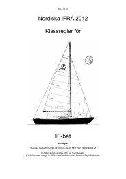 Klassregler 2012 (PDF) - Svenska IF-båtförbundet