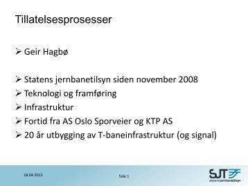 presentasjon - Statens jernbanetilsyn