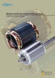 Motors built for submersible pumps - Water Solutions