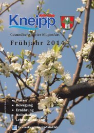 Programm Frühjahr 2014 - Kneipp Aktiv Club Klagenfurt am ...