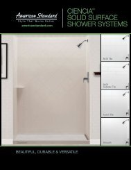 ciencia™ solid surface shower systems - American Standard