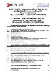 2011. november 1-én hatályba lépő IPTV szolgáltatásokra ... - Externet
