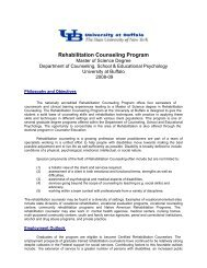 Rehabilitation Counseling Program - UB Graduate School of ...