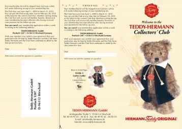 Collectors´ Club - Hermann Teddy Original