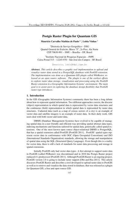 Postgis Raster Plugin for Quantum GIS