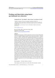 Probing seed black holes using future gravitational-wave ... - chgk.info