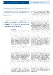 Compétences et niveaux de formation en soins ... - Palliative ch