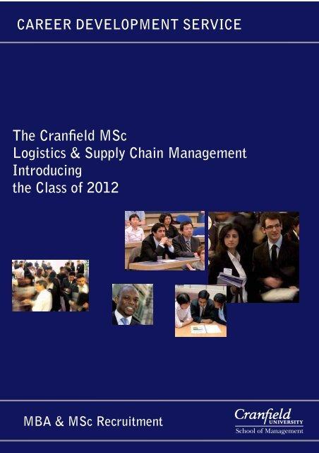 The Cranfield MSc Logistics & Supply Chain Management ...