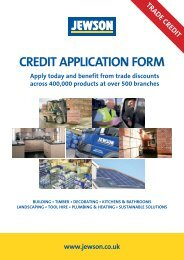 CREDIT APPLICATION FORM - Jewson