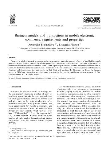 towards model based assessment of business it alignment in e     An Ontology for Developing e Business Models   HEC