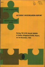 ACCIDENT INVESTIGATION REPORT Boeing 707-321B Aircraft ...
