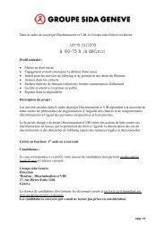 un-e juriste à 60-75% - Groupe sida Genève