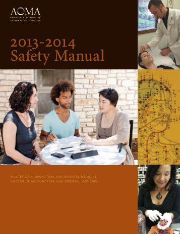 Safety Manual - AOMA Graduate School of Integrative Medicine