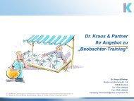 Beobachter-Training - Dr. Kraus & Partner