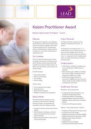 Kaizen Practitioner Award - LEAD