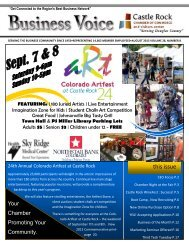 this issue - Castle Rock Chamber of Commerce