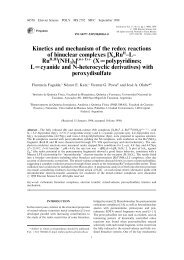Kinetics and mechanism of the redox reactions of binuclear ...