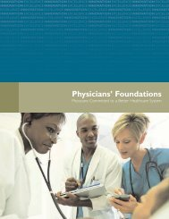 Physicians' Foundations - The Physicians Foundation