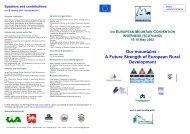 Our mountains - A Future Strength of European ... - Euromontana