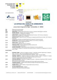 La difesa del suolo - Ordine dei Geologi della Lombardia