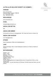 (ultra alles inklusive konzept 2013 sommer ) adresse web ... - PR Club