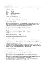 Erfahrungsbericht über einen Auslandsaufenthalt in - TUM School of ...