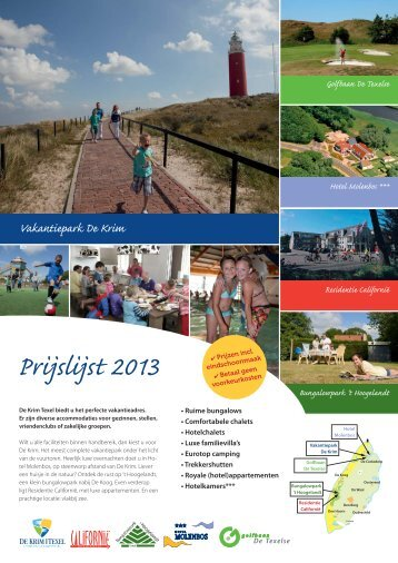 Prijslijst 2013 - De Krim Texel