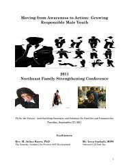 Moving from awareness to actions…growing responsible male youth ...
