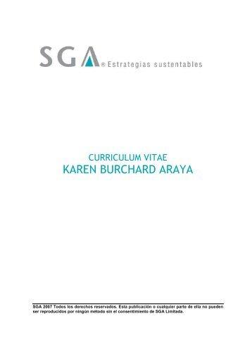 KAREN BURCHARD ARAYA - SGA