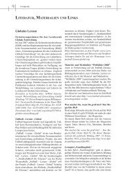Globales Lernen LITERATUR, MATERIALIEN UND LINKS - unesco-projekt ...