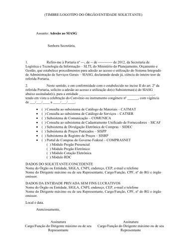 Modelo Anexo III - ComprasNet