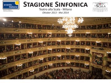 Teatro alla Scala - Milano - Booking Evento Italiano