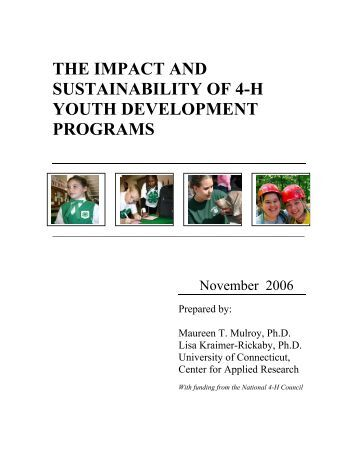 Impact of advancement program of the
