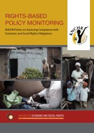 rights-based policy monitoring - Center for Economic and Social ...