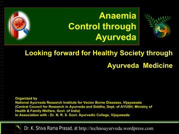 view the ppt - Techno Ayurveda