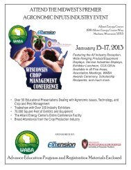 2013 Wisconsin Crop Management Conference - Department of Soil ...